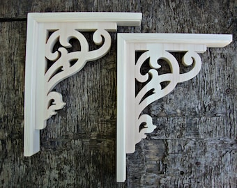 Victorian Wooden  Shelf Brackets Set of 2