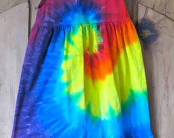 Rainbow Tie Dye Baby Dress