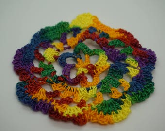 Flower Doily, Multicolored