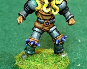 28mm Warriors in Diving Helmets for Fantasy Football Team (choose from 3 poses) Unpainted