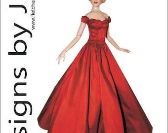 PDF Splendor Gown Pattern for Cami & Antoinette Dolls  Tonner