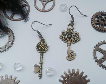 Key jewelry, steampunk, Lolita, cosplay, key, key