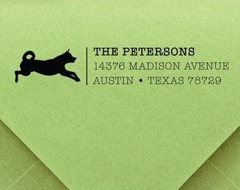 Dog Stamp, custom ADDRESS STAMP with proof from USA, Eco Friendly Self-Inking stamp, return address stamp, custom stamp, address stamp dog 5