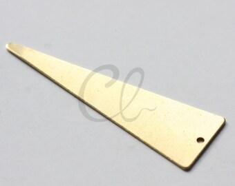 10 Pieces Raw Brass Triangle Charm - 50x16mm (1890C-U-229)