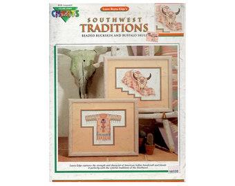 Southwest Cross Stitch Leaflet, Southwest Traditions Cross Stitch,  Beaded Cross Stitch, Southwest Patterns, American Indian Cross Stitch