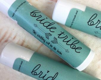 Bachelorette Party Favors - Bachelorette Lip Balm - Bride Tribe - Fun Wedding Favors -  Bridesmaid Gift - Bachelorette Party Lip Gloss