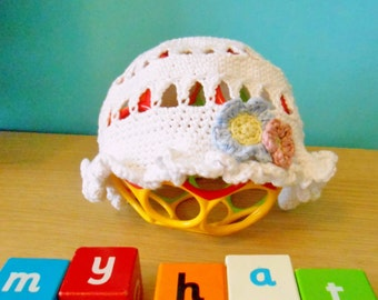 Baby/Child Bamboo Cotton Summer Hat, Crocheted - Made To Order, Custom Made, eco-friendly