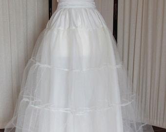 Stiff net Ivory 2 layer bridal wedding petticoat