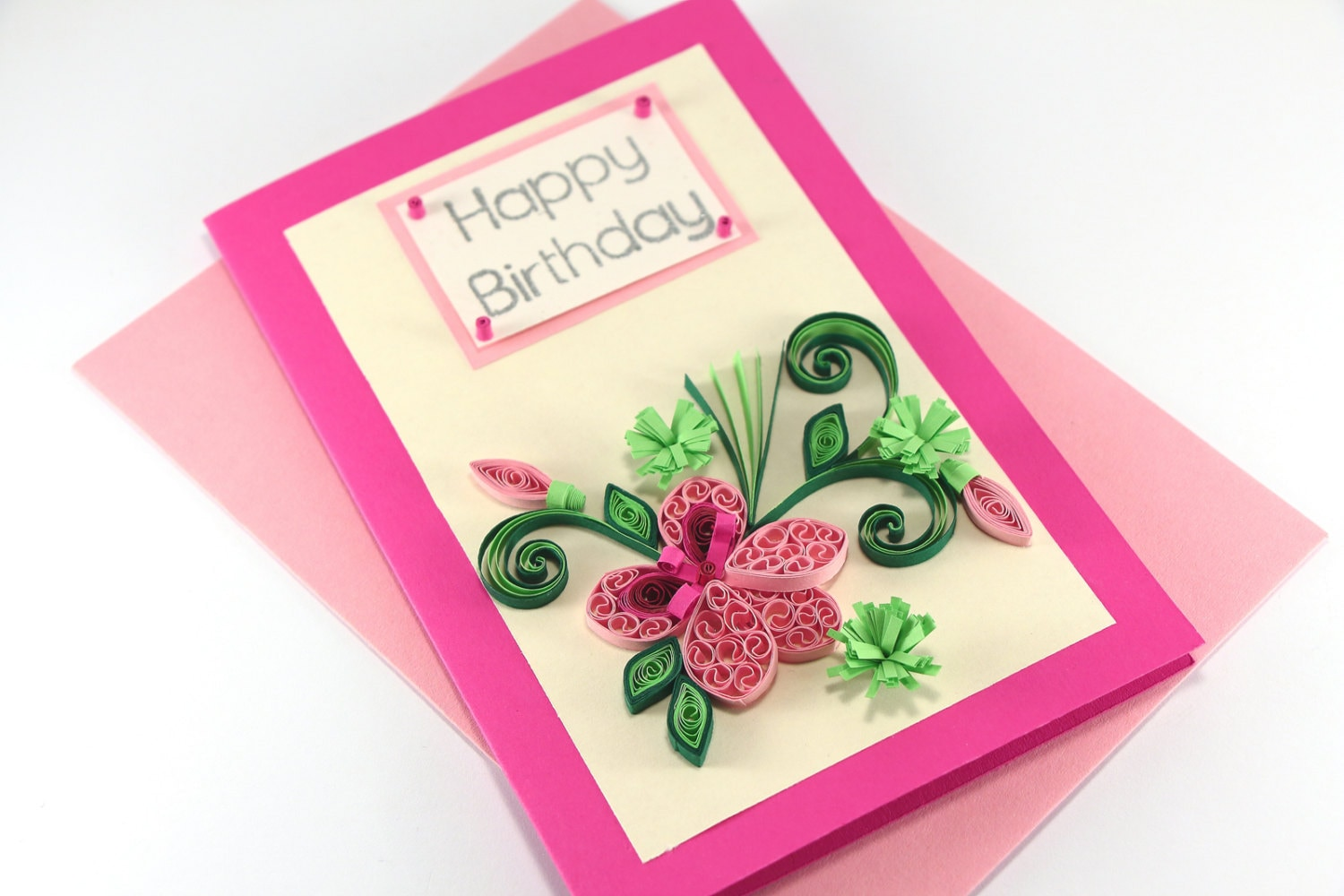 Happy birthday card handmade quilling flower for mom zoom thecheapjerseys Images