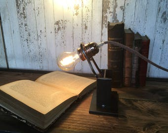 IPE steel table lamp