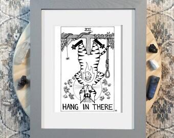 Printable Wall Art - Hang In There - 8.5x11 JPG PDF