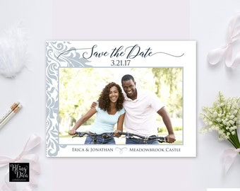 Filigree Save the Date Custom Printable