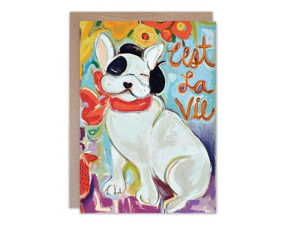 C'est La Vie 5x7 card
