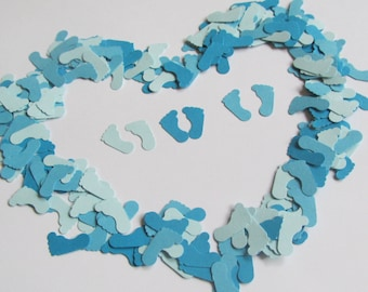 Baby Feet Confetti in Blue,  Baby Shower Confetti, Baby Shower Table Scatter, Baby Boy Shower Decoration, Baby Feet Cut Outs