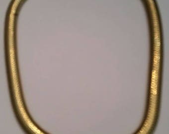 Vintage Monet Necklace Gold Coil Costume Jewelry