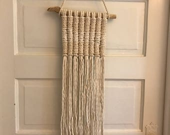 SALE knotted macrame wall hanging