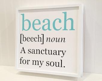 Wood beach sign beach decor beach inspiration nautical decor beach gift beach house decor beach quote coastal decorating ideas beach life