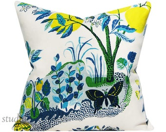 Schumacher Pillow Cover - Citrus Garden in Pool by Josef Frank - 20 - 22 - 24 - 26 inch - pick your size  - chinoiserie  - made to order