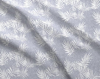 Palm Leaves Fabric - Geometric Palm Light By Holli Zollinger - Geo Tropical Palm Leaves Mudcloth Cotton Fabric By The Yard With Spoonflower