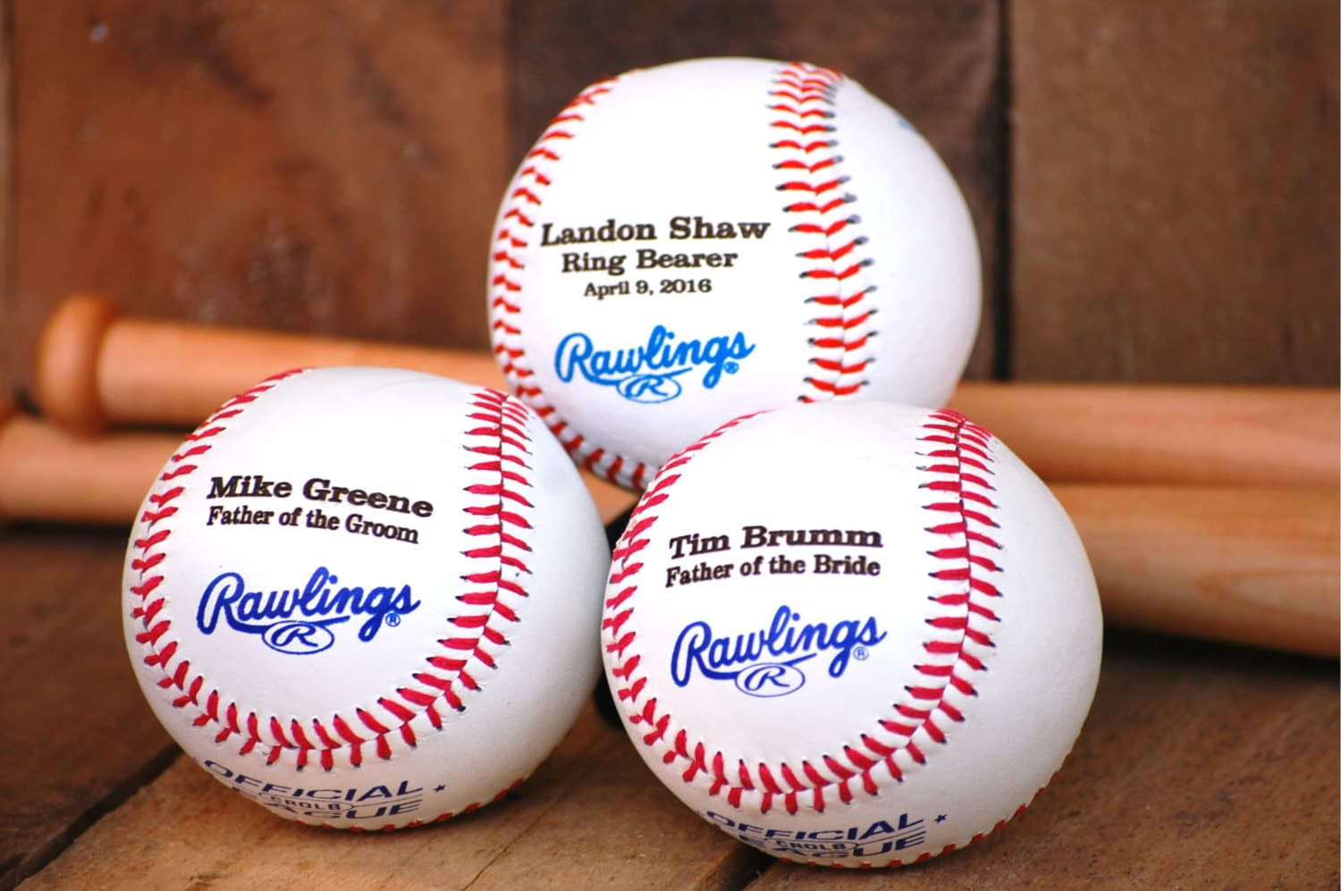 Ring Bearer Gift Personalized Baseball Custom Wedding Gift