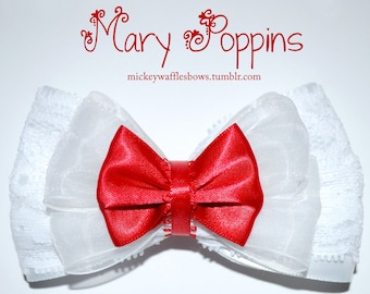 Mary Poppins Hair Bow