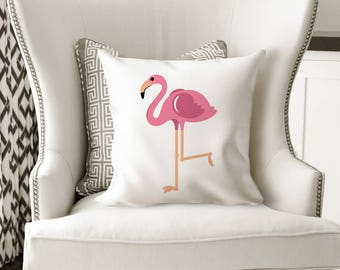Gift for Flamingo Lover, Pink Flamingo, Flamingo Gift, Kids Room Decor Ideas, Flamingo, Throw Pillow, Children's Room Decorating Ideas