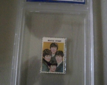 Vintage 1964 Certified Gem Mint Beatles Collectible Stamp from Hallmark