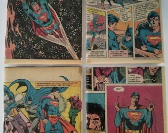 Superman with Batman coasters
