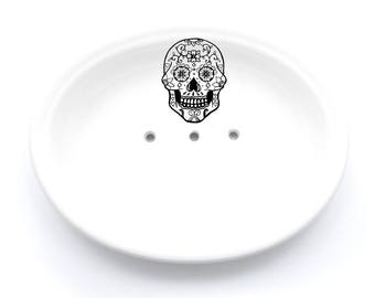 Sugar Skull Soap Dish