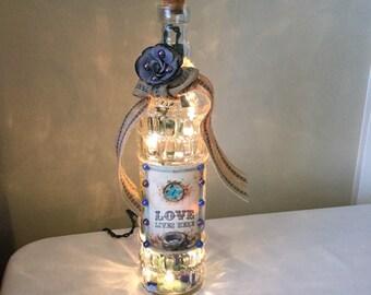Love Lives Here Bottle Light
