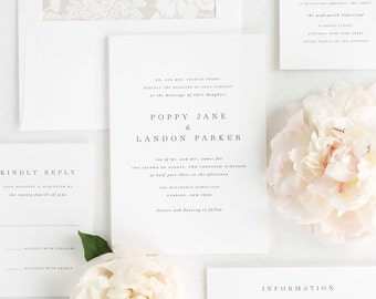 Poppy Wedding Invitations - Sample