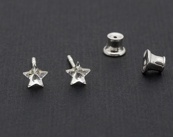Tiny Swarovski Star Earrings Star Stud Earrings Crystal Earrings Swarovski Studs Sterling Silver Earrings Post Earrings Swarovski Jewelry
