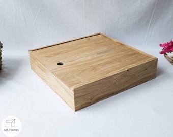 Custom box- Rustic wood- Oak- Weddings- Photography- Storage- Home decor- Bedroom decor- Jewelry box- Gift for women- Housewarming