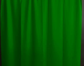Solid Poplin Curtain Panel / Window Decor / Window Treatments / Backdrop Valley Green