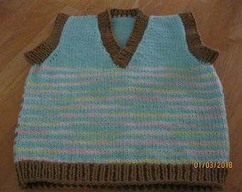 Hand Knit V-Neck Vest size 4