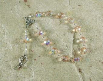 Eileithyia Pocket Prayer Beads: Greek Goddess of Childbirth and Pregnancy, Protector   of New Mothers and Infants