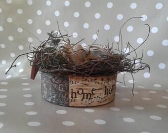 Primitive Bird Nest - Rustic Kitchen Decor - Handmade Bird Nest - Bird Nest and Eggs - Rustic Decor - Primitive Decor - Kitchen Arrangement