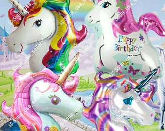UNICORN Birthday Balloons party decorations supplies