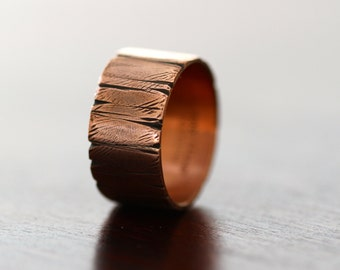 Tree Bark Copper Ring (E0333)