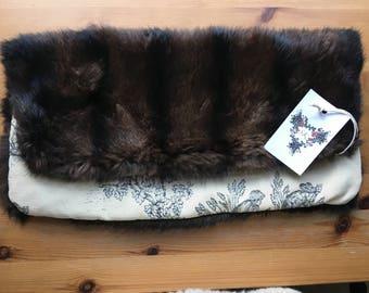 Vintage Fur Clutch Bag Handbag