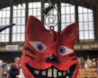 Cheshire Cat Ornament Smiling Cat Alice in Wonderland