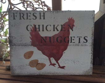Chicken nuggets sign