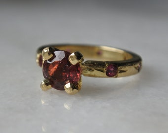 KISS Ring | Solid 18ct yellow gold and tourmaline ring