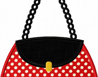 Instant Download Handbag  Applique Machine Embroidery Design NO:1277