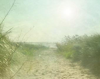 Beach Decor, Landscape Art, Lake Michigan, Wisconsin, Home Decor, Sand Art, Large Wall Art, Cool Breeze