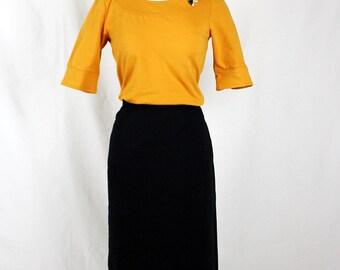 Black pencil skirt, pockets,  small and medium left! Ready to ship!