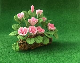 Dolls House Miniature Rose Garden