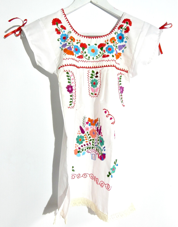 Mexican dress girls Bohemian girls dress Boho toddler Hipster