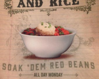 Red Beans and Rice Tea Towel