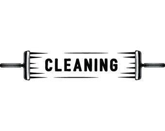 Cleaning Logo #27 Maid Service Housekeeper Housekeeping Clean Vacuum Mop Floor Laundry .SVG .EPS .PNG Clipart Vector Cricut Cutting Download